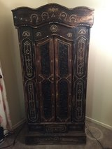 Antique Armoire (Wardrobe) - handcrafted gold embellishment in Fort Irwin, California