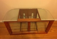 bourbon cherry wood colored tv Stand in Tinley Park, Illinois