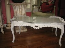 french vintage shabby chic coffee table in Yorkville, Illinois