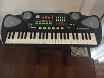 Kawasaki battery operated keyboard with stand in Naperville, Illinois