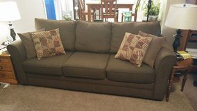 Brown Fabric Couch in Belleville, Illinois