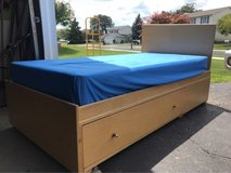 Twin storage bed frame and box spring in Palatine, Illinois