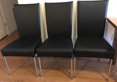 Black Leather Dining Room Chairs in Fort Meade, Maryland