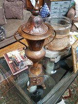 Metal vintage style palm crest urn in Plainfield, Illinois