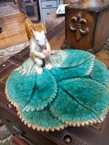 Decorative Squirrel on leaf dish bowl fall in Naperville, Illinois
