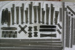 GOOD USED CODE 100 HO SCALE NICKEL-SILVER TRACK AND SWITCHES in Shorewood, Illinois
