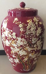 Textured Large Ginger Jar in Okinawa, Japan