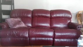 Leather Couch and Recliner in Morris, Illinois
