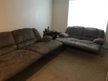 Reclining couch and love seat in Leesville, Louisiana