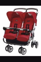 Peg Perego 60-40 Double stroller in Fort Leonard Wood, Missouri