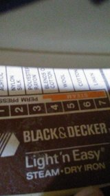Black & Decker Steam Iron in Fort Campbell, Kentucky