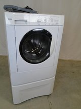 Kenmore White Front Load Washer on Pedestal in Alvin, Texas