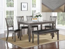 BRAND NEW! QUALITY SOLID MADE GREY FINISHED DINING SET in Camp Pendleton, California