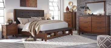 Rustic/Contemporary Queen Bedroom Set!! NEW! in Cherry Point, North Carolina