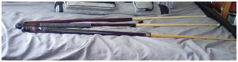 Pool sticks in Duncan, Oklahoma