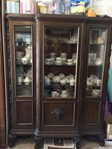 Antique Solid Oak China Cabinet in Fort Lewis, Washington