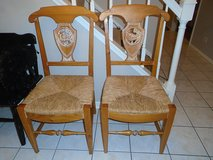 PAIR OF SOLID WOOD CHAIRS in Palatine, Illinois
