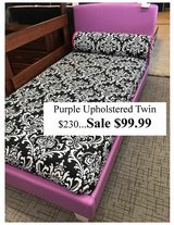 New Upholstered Purple Twin Bed in Fort Knox, Kentucky
