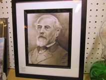 General Robert E Lee - Print from Original by Artist - Signed on Back in Cherry Point, North Carolina
