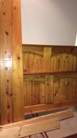 """As is all wood king Bed Frame 70""""x 81"""". in Aurora, Illinois"""