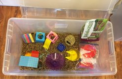 Hamster Cage or XL Enclosed Play Bin & Toys in Naperville, Illinois
