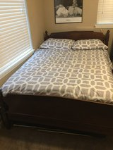 Solid Wood Full Size Bed, Mattress, Box Spring, Head and Footboard in Fort Riley, Kansas