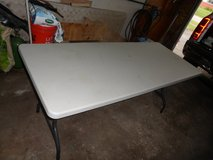 For Sale: 6' Plastic Table Portable Picnic Dining Furniture Party, NEW in Naperville, Illinois