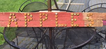 Rustic Primitive Looking Barnwood and Bottle Caps Apples Sign in Aurora, Illinois