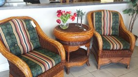 3 piece wicker - 2 chairs, 1 table in St. Charles, Illinois