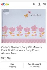 Baby girl memory book (brand new) in Westmont, Illinois