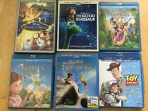 Assortment of Disney Blueray Movies in Perry, Georgia