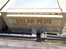 Solar hot water panels in Yucca Valley, California