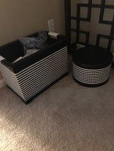 Really cute Shabby Chic Black and White bin or basket in Fort Leavenworth, Kansas