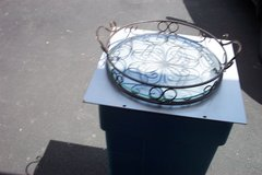 "14"" DIAMETER METAL & GLASS TABLE TRAY in Bartlett, Illinois"