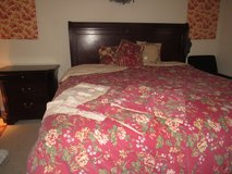 Beautiful Dark Cherry Broyhill Bedroom Suite King Size in Beaufort, South Carolina