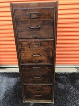 Antique Shaw-Walker Qtr Oak 4 Drawer File Cabinet in Cherry Point, North Carolina