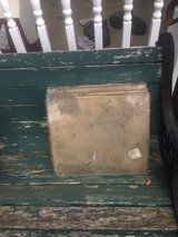 lot of vintage panels of glass in wood crates in Aurora, Illinois