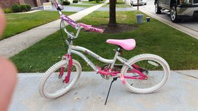 Pink and silver bike 20 in. in Bartlett, Illinois