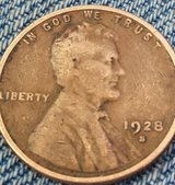 coin 1928 s wheat penny from a collection in bookoo, US