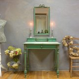 Extraordinary Vintage Vanity Table Desk French Dressing Table With Fantastic Mirror Shabby Chic! in Ramstein, Germany
