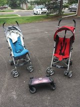 UPPAbaby G-LUXE stroller (red/gray/silver) in Bartlett, Illinois