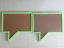2 New Corkboard Speech Bubbles -hanging in Okinawa, Japan