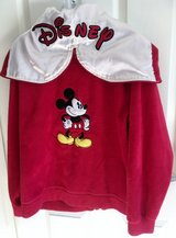 DISNEY MICKEY JACKET WITH ZIP-UP HOOD, LIKE NEW in Lakenheath, UK