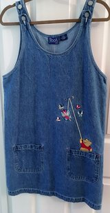 WINNIE THE POOH EMBROIDERED DENIM DRESS by DISNEY in Lakenheath, UK