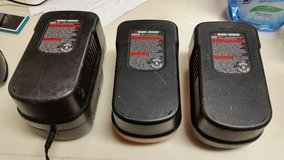 3 Black Decker Chargers in Okinawa, Japan