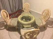Glass Top Table & 4 Chairs in Bolling AFB, DC