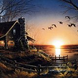 Limited Edition Print Terry Redlin Comforts of home in St. Louis, Missouri