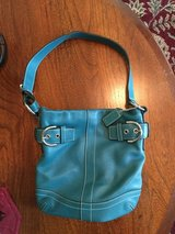 """Coach teal, leather, minimal use, 8"""" x 11"""" in Spring, Texas"""