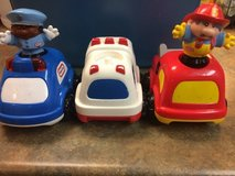 Little Tikes Emergency Vehicles Lot - Fire Truck, Police Car & Ambulance RARE in Schaumburg, Illinois