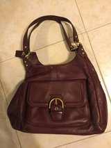 Maroon coach, leather, great condition in Spring, Texas
